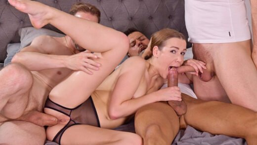 PornWorld - Alexis Crystal - 3 Dudes Stuff Cleaning Lady Airtight for Slacking Off On the Job