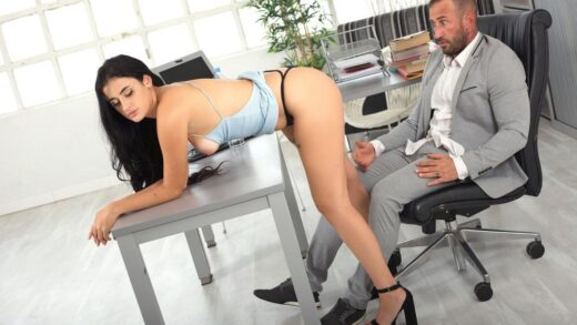 PornWorld - Haix Rougue - Thick Spanish Slut Secures the Job by Giving the Boss Access to All Her Holes
