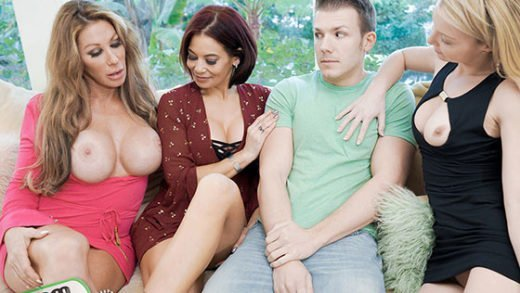 Free watch streaming porn BadMilfs Farrah Dahl, Ryder Skye, Laura Bentley The More Badmilfs The Better - xmoviesforyou