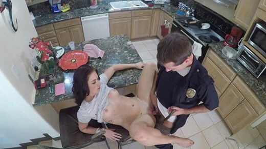 BangScrewTheCops - Naomi Mae, Fucks The Cop That Responds To Her 911call!
