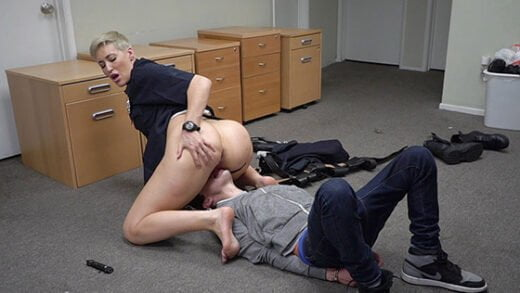BangScrewTheCops - Ryan Keely, Cuffs This Frat Guy And Uses His Dick For Her Pleasure