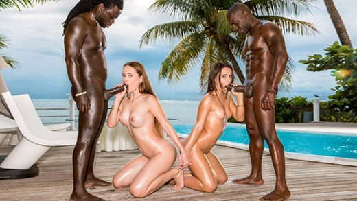 [Blacked] Lana Roy, Kaisa Nord (Living In The Moment / 02.09.2019)