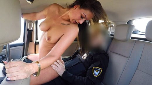 FakeCop - Olivia Netta, Cops Cum Makes Her Late