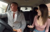 FakeDrivingSchool – Susy Blue, Huge facial for Spanish eyes