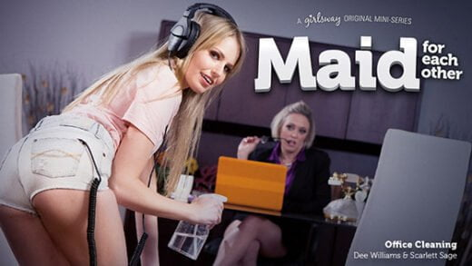 [GirlsWay] Scarlett Sage, Dee Williams (Office Cleaning / 04.11.2019)