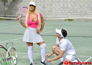 Free watch streaming porn TeensLoveAnal Brandi Bae Rogue Tennis Ball Produces An Anal Racket - xmoviesforyou