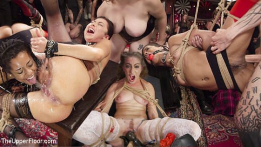 Free watch streaming porn TheUpperFloor Aiden Starr, Kira Noir, Melissa Moore - Nympho Slave Slut Soaks The Folsom Orgy with Squirt - xmoviesforyou