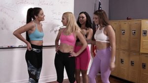 [ZeroTolerance] Aaliyah Love, Whitney Wright, Gia Derza, Adria Rae (Lesbian Gym Teachers Workout / 04.27.2019)