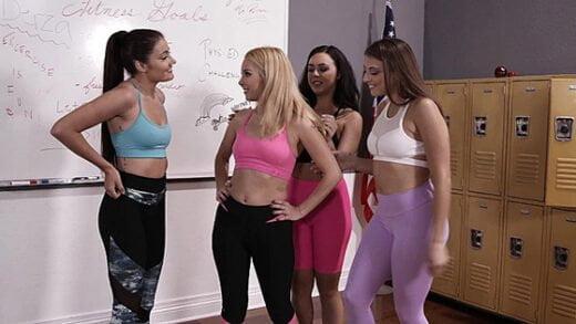 [ZeroTolerance] Aaliyah Love, Whitney Wright, Gia Derza, Adria Rae (Lesbian Gym Teachers Workout / 04.27.2019)
