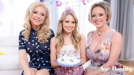 [AgeAndBeauty] Scarlett Sage, Nina Hartley, Dee Williams (Our Family Tradition / 06.28.2019)