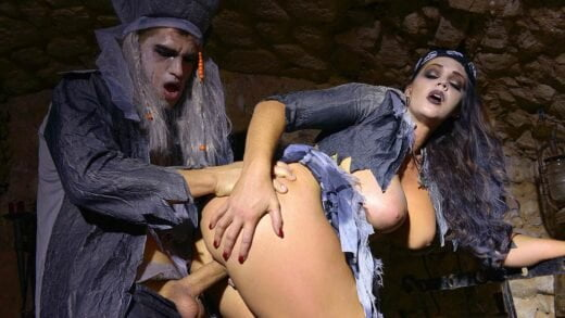 Zombie Pirate Alison Tyler Rides Massive Dick With Her Shaved Juicy Pussy GP105
