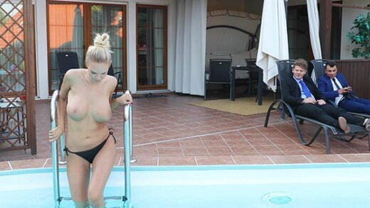 [BangGlamkore] Florane Russell (Gets Her Asshole And Pussy Shared By Two Cocks! / 07.03.2019)
