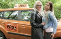 FakeDrivingSchool – Kathy Anderson And Emily Bright – Learner licks wet pussy for license