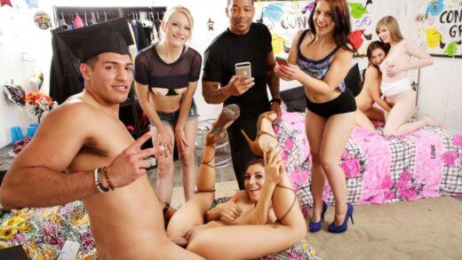 DareDorm - Melissa Moore, Dolly Leigh And Moka Mora - Crashing The Party Girls