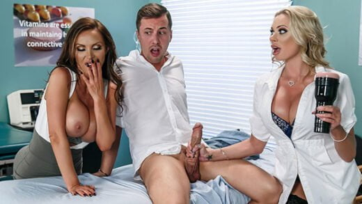 Free watch streaming porn DoctorAdventures Nikki Benz, Briana Banks Dick Stuck In Fleshlight - xmoviesforyou