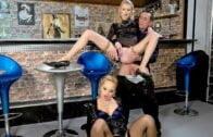 FullyClothedPissing – Blondie Piss Bar / Sharka Blue & Kate
