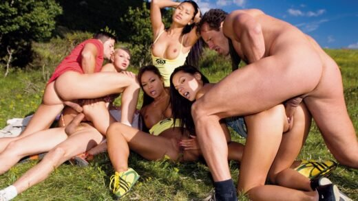 Private – Jennifer Love and Her Girlfriends Are Having an Outdoor Orgy with a DP