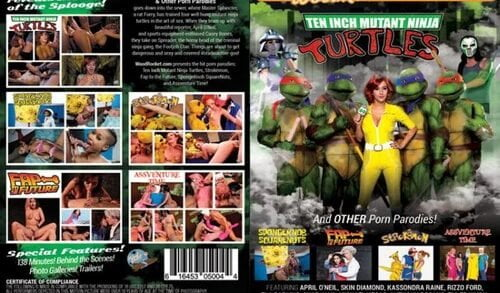 WoodRocket - Ten Inch Mutant Ninja Turtles And Other Porn Parodies (2016)