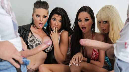 BabyGotBoobs - Christy Mack, Raven Bay, Rikki Six, Romi Rain, Spring Broke: Support the Blowjob Relief Fund