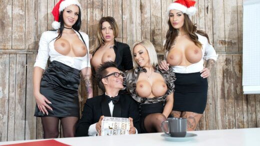 BumsBuero - Office Sex Party Pt.1 / Mia Blow, Lilli Vanilli, Jolee Love & Conny Dachs