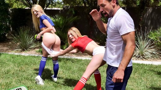 [StepSiblings] Charlotte Sins, Kenna James (Stepsister Football Fuckers / 09.14.2019)