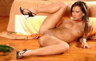 1By-Day – Carmen, Dinner Time Veggies Get Stuffed in Slovakian Babe's Holes