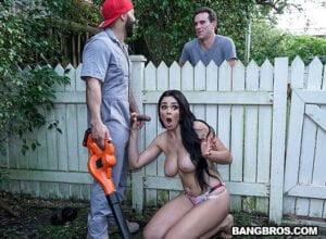 Free watch streaming porn BangbrosClips Skyla Novea Busty House Wife Fucks The Gardener - xmoviesforyou