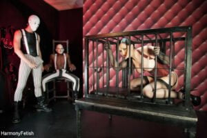 HarmonyVision - Angell Summers, Caged Cutie / Masked Gimps Anally Ravage their Submissive