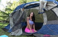 MyPervyFamily – Audrey Miles – Camping Creampie for Stepsis