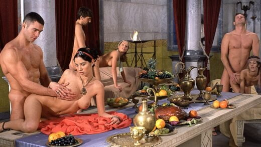 Private - Dike Lara Stevens and Pocahontas Have Both Holes Poked during an Orgy