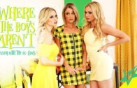 WhereTheBoysArent – Briana Banks, Kenzie Taylor And Emma Hix – Dinner With The In-Laws