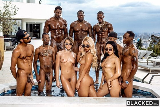 Blacked – Teanna Trump, Vicki Chase, Adriana Chechik, BadBitches