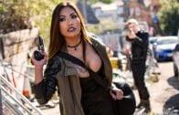 JulesJordan – Angela White, Angela White's Dark Side Her Biggest Gangbang Ever, Double Anal, Triple Penetration!