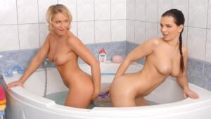 EveAngelOfficial - Eve Angel, Kathia Nobili, Lesbian Bath Time