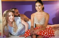 MomXXX – Georgie Lyall And Baby Nichols – Latina Au Pair Joins Older Couple