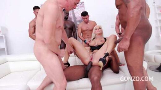 LegalPorno – Blanche Bradburry Assfucked By 1 2 3 4 Guys and Then Gangbanged By All 10 Of Them