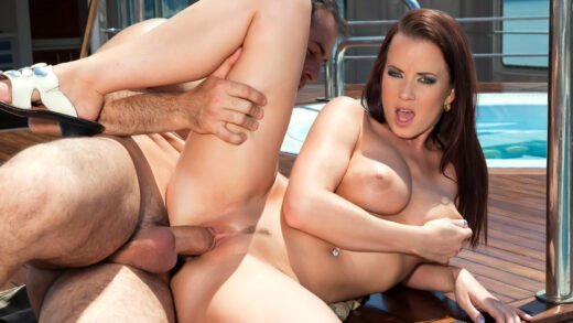 Private – Cindy Dollar, Bends over on the Deck of a Ship to Have Her Ass Fucked