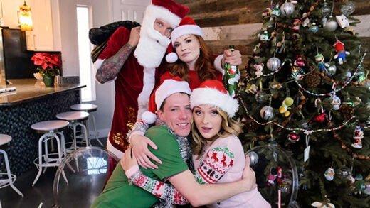 [FamilyStrokes] Charlotte Sins, Summer Hart (Christmas Family Orgy / 12.26.2019)
