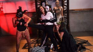 [AdultTime] Juliette March, Casey Calvert, Charlotte Cross, Riley Reyes (Shoe Cum Killer / 01.03.2020)