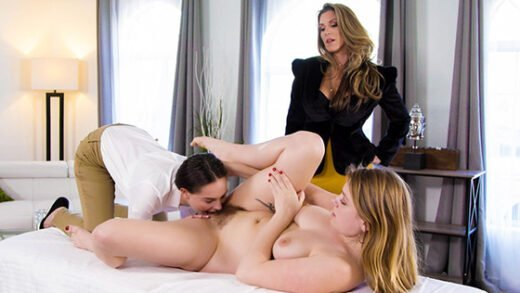 [AllGirlMassage] Giselle Palmer, Kayla Paige, Aften Opal (Business Audit / 01.20.2020)