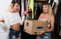 AllGirlMassage – Emma Hix, Adria Rae Moms Closet Strap-On