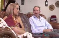 FamilyHookups – Paisley Rae Cute blonde teen Paisley Rae fucks her stepdad while mom is away