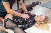 HerLimit – Angelika Grays Cock-hungry blonde destroyed by two studs