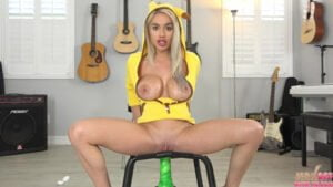 [JerkOffWithMe] Victoria June (Sexy Pikachu Victoria June With Alien Dildo / 07.25.2020)