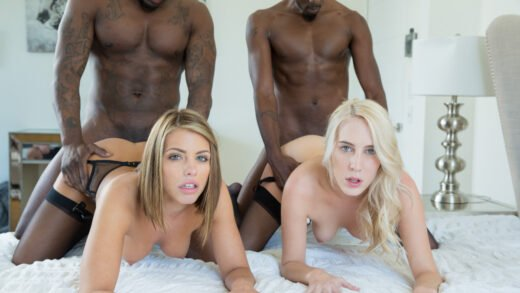 Blacked - Adriana Chechick And Cadence Lux - My Friend and I Did Two Black Guys
