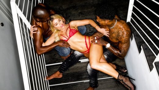 BlackedRaw - Adriana Chechik, Late Night BBC Threesome