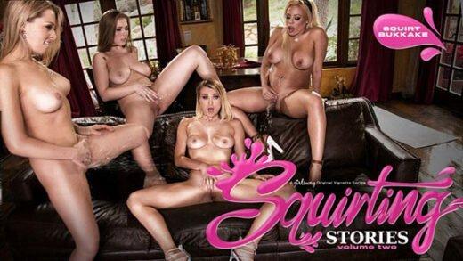 GirlsWay - Zoey Monroe, Luna Star, Natalia Starr And Lena Paul - Squirting Stories Volume Two - Squirt Bukkake