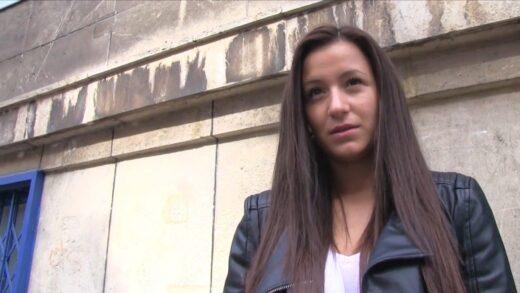PublicAgent - Cindy Loarn - Shy brunette has sex in restaurant toilet for cash