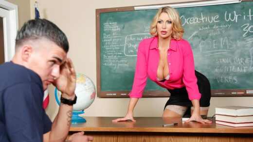 BigTitsAtSchool - Leigh Darby - Teaching Miss Darby a Hard Lesson