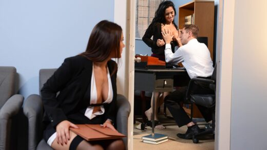 BigTitsAtWork - Abby Lee Brazil And Valentina Nappi - Battle of the Stockings